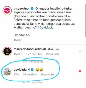 David Luiz rindo